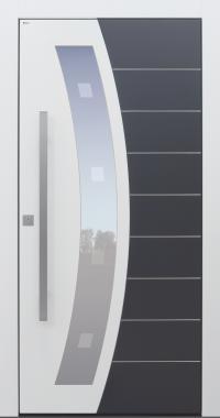 Haustür modern, weiß, anthrazit, TOPICcore, Sicherheitstür, passivhaustauglich, besser als Alu, Glas, Glasmotiv