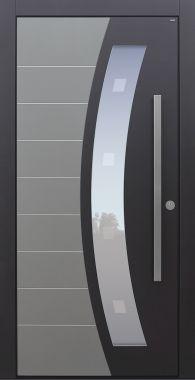 Haustür modern, RAL, TOPICcore, Grau, Sicherheitstür, passivhaustauglich, besser als Alu, Glas