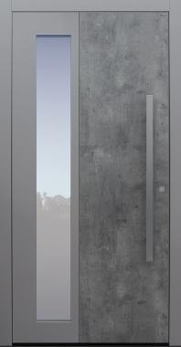Haustür Exterior Skyline mit Option 2. Farbe und Designpaket keine Spurfräsungen auf Kundenwunsch Modell B63-T1