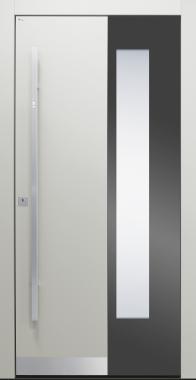 Haustüren, modern, grau,  TOPICcore, Edelstahl, Sicherheitstür, passivhaustauglich, besser als alu, Glas
