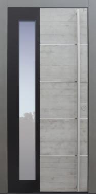 Haustür modern, Beton, TOPICcore, Sicherheitstür, passivhaustauglich, besser als Alu, Glas