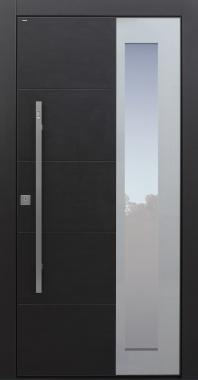 Haustür modern, Keramik, Anthrazit, Dunkelgrau, Sicherheitstür, passivhaustauglich, besser als Alu, Glas, Fingerprint