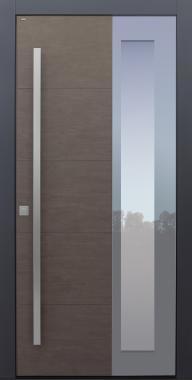 Haustür modern, Keramik, Braun, Sicherheitstür, passivhaustauglich, besser als Alu, Glas