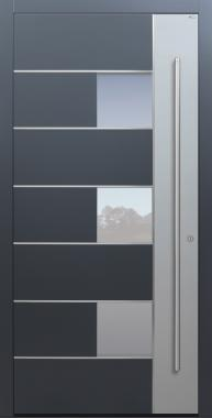 Haustür anthrazit mit Option 2. Farbe Modell B66-T2