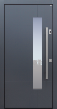 Haustür modern, anthrazit  Topiccore, Sicherheitstür, passivhaustauglich, besser als alu, Glas