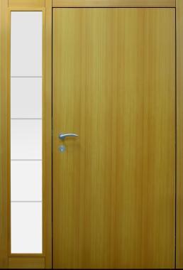 Haustür modern, Holz, Lärche, Seitenteil, Sicherheitstür, passivhaustauglich, besser als alu, Glas