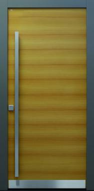 Haustür modern, Holz, Lärche, Sicherheitstür, besser als alu
