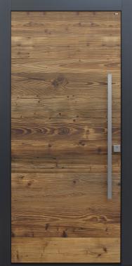 Haustür modern anthrazit, Holz, Altholz, Fichte, über 100 Jahre, Sicherheitstür, niedrigenergiehaustauglich, TOPICcore, besser als alu