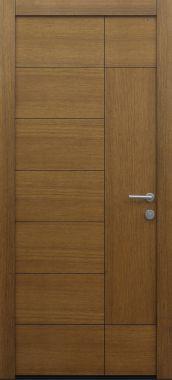 Haustür modern, Holz, Eiche, Sicherheitstür, besser als alu
