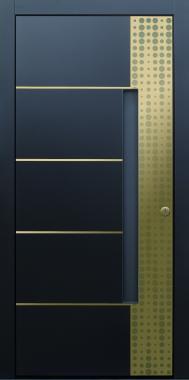 Haustür modern, TOPICcore,  Gold, Sicherheitstür, passivhaustauglich, besser als Alu