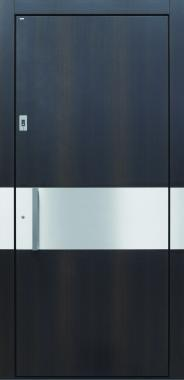 Haustür modern, Holz, Edelstahl, Fingerprint, Sicherheitstür, passivhaustauglich, besser als Alu