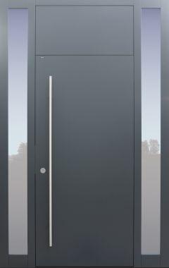 Haustür modern, TOPICcore, Anthrazit, Dunkelgrau, Sicherheitstür, passivhaustauglich, besser als Alu, Glas, Seitenteil,