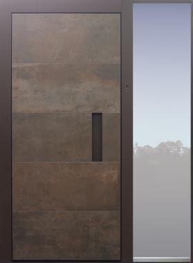 Haustür modern, Keramik, Seitenteil, TOPICcore, Fingerprint, Sicherheitstür, passivhaustauglich, besser als Alu, Glas