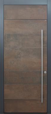 Haustür modern, Keramik Lamiera, anthrazit, XL, TOPICcore, Sicherheitstür, passivhaustauglich, besser als Alu