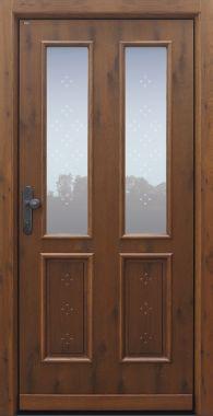 Haustür klassisch, Eiche alt, Holz, Sicherheitstür, passivhaustauglich, besser als Alu, Glas