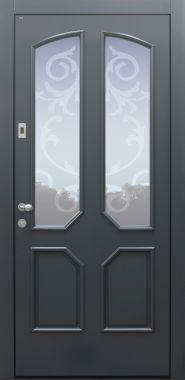 Haustür Landhaus klassisch rustikal, anthrazit, Topiccore, Sicherheitstür, passivhaustauglich, besser als alu, Glas