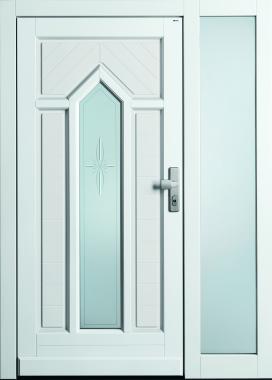 TOPIC Haustür front door Classic C128 T2 mit Rahmen B100 und Seitenteil ST-B1 www.topic.at