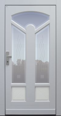 Haustür, Landhaus klassisch rustikal, TOPICcore, hellgrau, Sicherheitstür, besser als alu, Glas