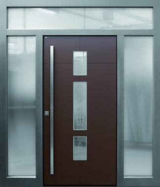 Haustür front door Current A250 T2 mit zwei Seitenteilen ST-G100 und Oberlichte www.topic.at