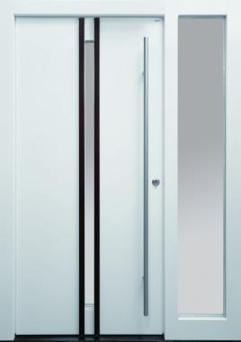Haustür front door Current B26 T1 mit Seitenteil ST-G100 und Rahmen G100 www.topic.at