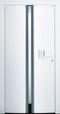 Haustür modern, weiß, TOPICcore, besser als Alu, Glas
