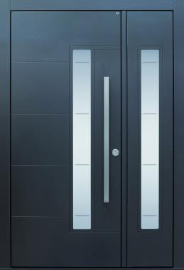 Haustür front door Current B33 T1 zweiflügelig mit Rillenschliff auf Kundenwunsch www.topic.at