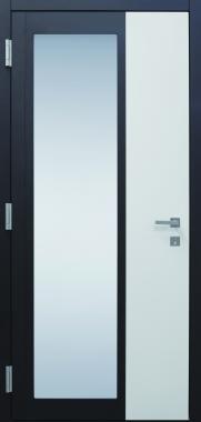 Haustür modern, Glas, weiß, anthrazit, Topiccore, Sicherheitstür, passivhaustauglich, besser als Alu