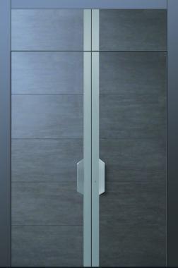 Haustür modern anthrazit, grau, Keramik, Sicherheitstür, passivhaustauglich, TOPICcore, besser als alu, Edelstahl, zweiflügelig, XL, 3m