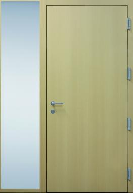 Haustür modern, Holz, Fichte,  Sicherheitstür, passivhaustauglich, besser als alu, Seitenteil, Glas
