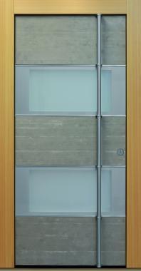 Haustür front door Current Concrete T3 mit Glaseinsätzen www.topic.at