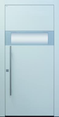 Haustür modern, weiß, grau, Topiccore, Edelstahl, Sicherheitstür, passivhaustauglich, besser als alu, Glas