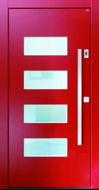Haustür front door Current T2-Sonder rot www.topic.at
