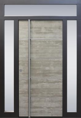 Haustür modern, Beton, Topiccore, Edelstahl, Seitenteile, Sicherheitstür, passivhaustauglich, besser als alu, Glas