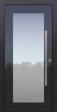 Haustür modern, anthrazit, Topiccore, Sicherheitstür, passivhaustauglich, besser als alu, Glas