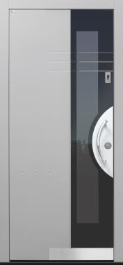 Haustür grau mit Fingerprint mit Option 2. Farbe Modell Shadow03-T2