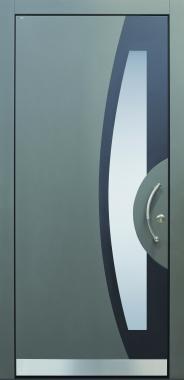 Haustür modern, anthrazit, grau,  TOPICcore, Sicherheitstür, passivhaustauglich, besser als alu, Glas