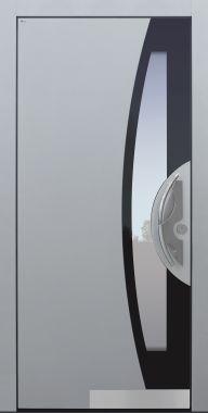 Haustür modern, TOPICcore, hellgrau, RAL, Sicherheitstür, passivhaustauglich, besser als Alu, Glas
