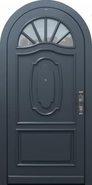 Haustür klassisch braun mit Rundbogen Sonderanfertigung auf Kundenwunsch Modell Sonder-T2