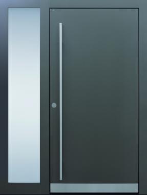 Haustür modern, anthrazit, TOPICcore, Sicherheitstür, passivhaustauglich, besser als alu, Seitenteil, Glas