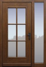 Haustür klassisch Eiche alt mit Option Querfries unten mit Seitenteil B1 Modell A170-T1