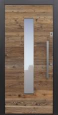 Haustür modern, Holz, Altholz, Fichte ,Sicherheitstür, besser als alu, Glas