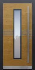 Haustür modern, Holz, Eiche astig ,Sicherheitstür, passivhaustauglich, besser als alu, Glas
