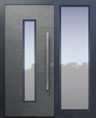 Haustür modern, Keramik, Koshi dunkelgrau, Sicherheitstür, passivhaustauglich, besser als alu, Glas, Seitenteil