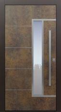 Haustür modern, TOPICcore, Exterior, Patina bronze, Sicherheitstür, passivhaustauglich, besser als Alu, Glas