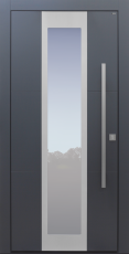Haustür modern, grau Topiccore, Sicherheitstür, passivhaustauglich, besser als alu, Glas