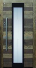 Haustür modern anthrazit, Holz, Altholz, Eiche, über 300 Jahre, Sicherheitstür, passivhaustauglich, TOPICcore, besser als alu, Glas