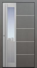 Haustür modern, grau, TOPICcore, Edelstahl, Sicherheitstür, passivhaustauglich, besser als Alu, Glas
