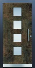 Haustür modern, Exterior Patina Bronze, Sicherheitstür, passivhaustauglich, besser als alu, Glas