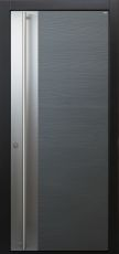 Haustür modern, Holz, Lärche, silverwood, TOPICcore, Edelstahl, Sicherheitstür, passivhaustauglich, besser als Alu