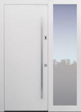 Haustür modern, weiß, TOPICcore, Sicherheitstür, passivhaustauglich, besser als Alu, Glas, Fingerprint